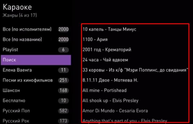 список песен ростелеком